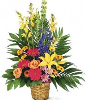 Cesto fiori misti
