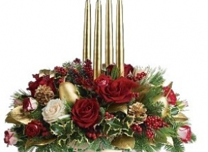 Centerpiece with candle
