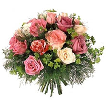 Bouquet rose chiare