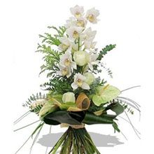 Bouquet with white orchids