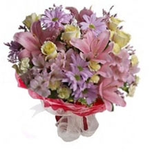 Bouquet pink and lilac color